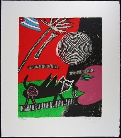 Lithographie Corneille - Le chat noir
