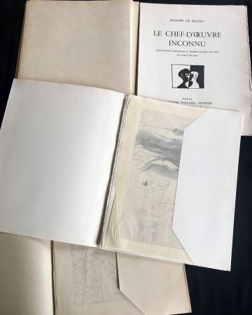 Livre Illustré Picasso - LE CHEF-D'ŒUVRE INCONNU. Eaux-fortes originales de Pablo Picasso (exemplaire sur Japon signé avec suite. 1931).