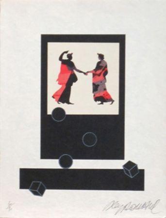 Lithographie Le Yaouanc - Le chemin de ronde