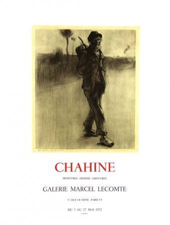 Lithographie Chahine - Le Chemineau