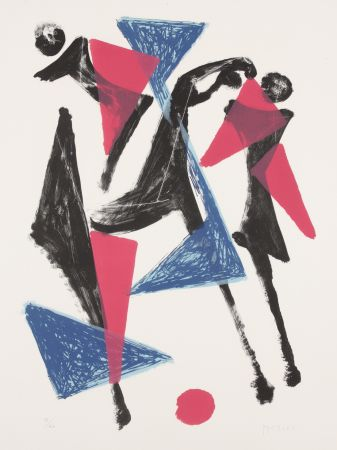 Lithographie Marini - Le Cheval au Manege