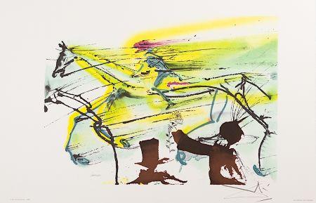 Lithographie Dali - Le Cheval de Course (Race Horse)