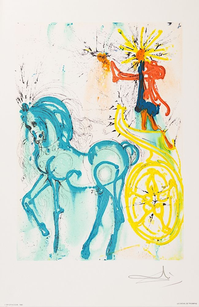 Lithographie Dali - Le Cheval de Triomphe (Horse of Triumph)