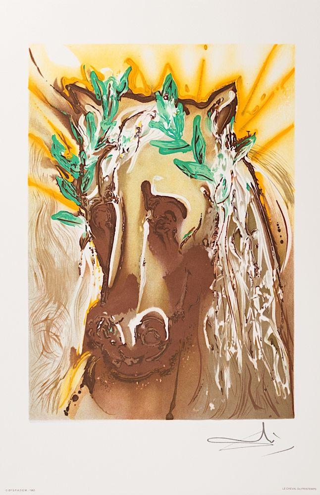 Lithographie Dali - Le Cheval du Printemps (Horse of Spring)