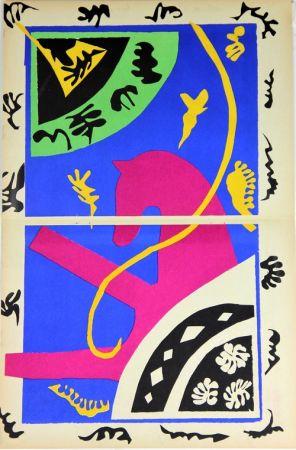 Lithographie Matisse - Le Cheval L'Ecuyere et le Clown de la serie Jazz