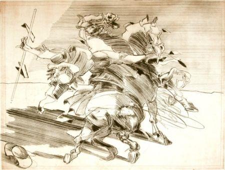 Gravure Weisbuch - LE CHEVALIER DE LA MANCHA