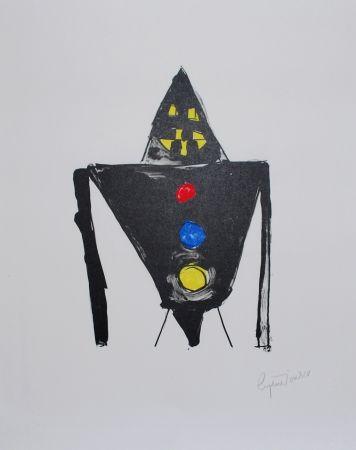 Lithographie Ionesco - Le chevalier noir