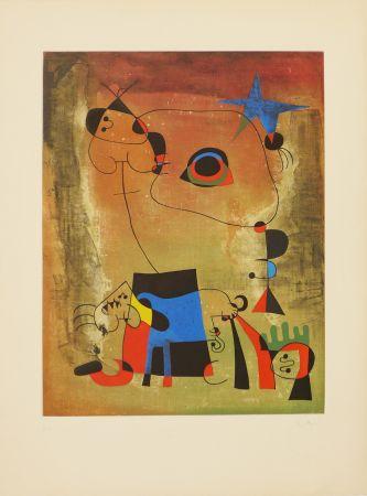 Aquatinte Miró (After) - Le chien bleu
