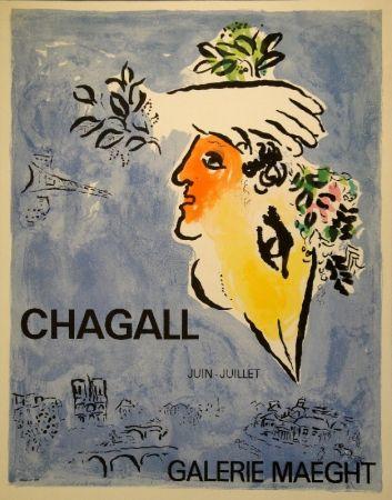 Lithographie Chagall - Le Ciel Bleu / Blauer Himmel