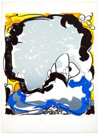 Lithographie Wyckaert - Le ciel miroir