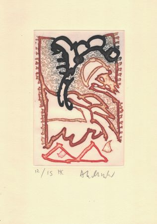 Gravure Alechinsky - '' Le Cirque ''