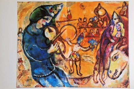 lithographie de marc chagall le cirque d 39 iris sur amorosart. Black Bedroom Furniture Sets. Home Design Ideas