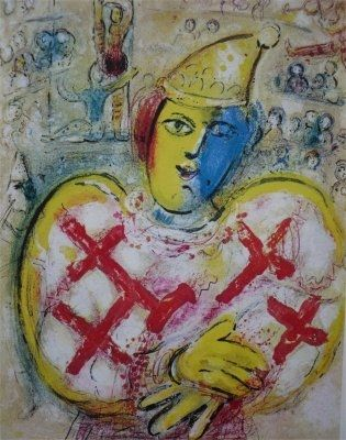 Lithographie Chagall - Le Cirque, planche  10