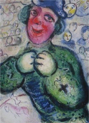 Lithographie Chagall - Le Cirque, planche 16
