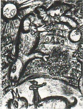 Lithographie Chagall - Le Cirque, planche 37