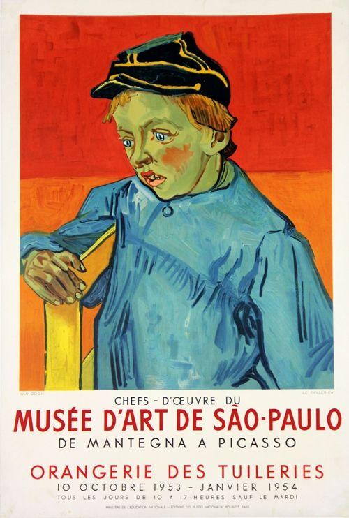 Lithographie Van Gogh - Le Colegien, Musée D'Art de Sao Paulo