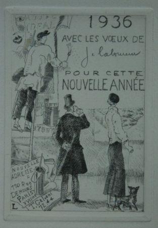 Eau-Forte Laboureur - Le Colleur d'affiches