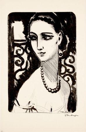 Lithographie Van Dongen - Le Collier de Perles
