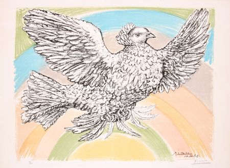 Lithographie Picasso - Le Colombe Volant