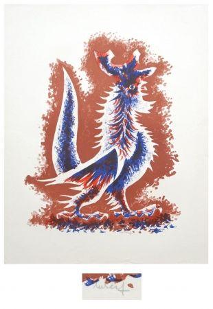 Lithographie Lurcat - Le coq