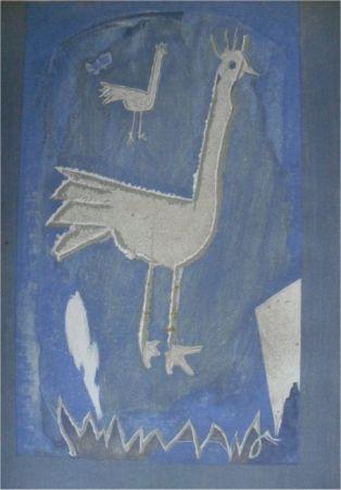 Lithographie Braque - Le Coq