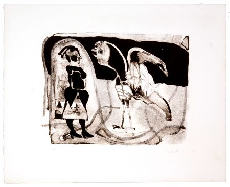Lithographie Toledo - Le coq