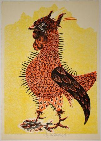 Lithographie Lurcat - Le Coq rouge