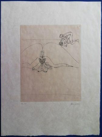 Gravure Bellmer - Le corps s'offre