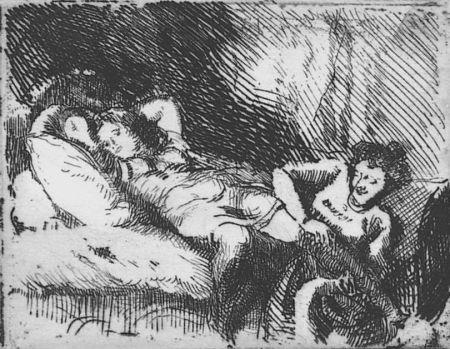 Eau-Forte Besnard - Le Coucher