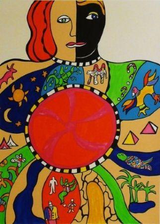 Lithographie De Saint Phalle - Le couple