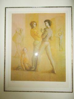 Lithographie Fini - Le Cour De Danse