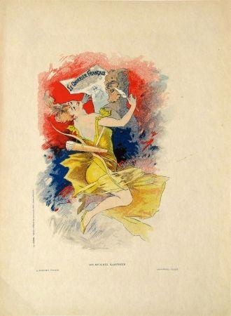 Lithographie Cheret - Le Courier Francais