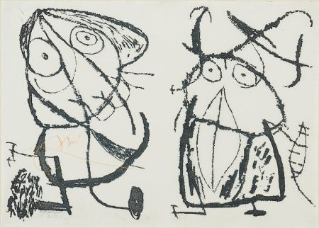 Eau-Forte Et Aquatinte Miró - Le Courtisan Grotesque