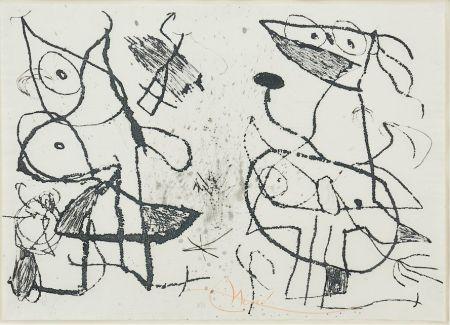 Eau-Forte Et Aquatinte Miró - Le Courtisan Grotesque II