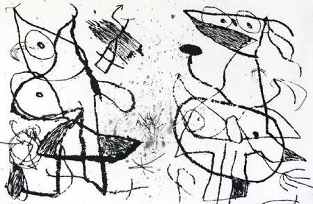 Eau-Forte Et Aquatinte Miró - Le Courtisan Grotesque XII