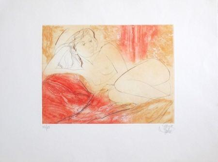 Gravure Valadie - Le cousin rouge