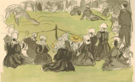 Livre Illustré Denis - Le crépuscule sur la mer.  Illustrations de Maurice Denis.
