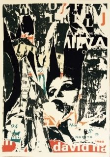 Lithographie Villeglé - Le cri ou opéra