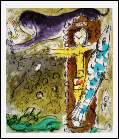 Lithographie Chagall - LE CRISTAL HORLOGE