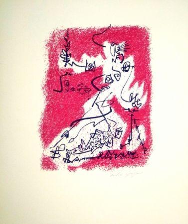 Lithographie Masson - Le départ