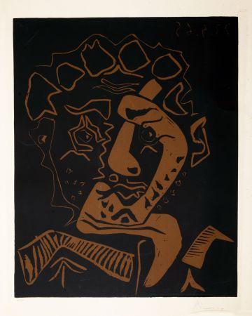 Linogravure Picasso - LE DANSEUR