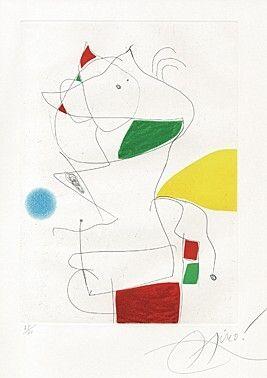Eau-Forte Et Aquatinte Miró -