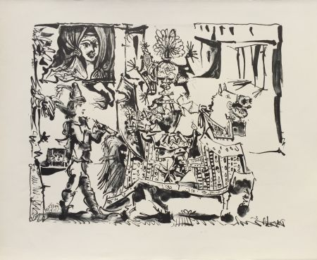 Lithographie Picasso - Le Depart (The Departure) (B. 686)