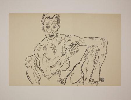 Lithographie Schiele - LE DERNIER AUTOPORTRAIT / THE LAST SELF-PORTRAIT - 1918