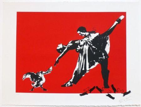 Sérigraphie Blek Le Rat - Le Dernier Tango à Paris