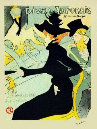 Lithographie Toulouse-Lautrec - Le divan Japonais