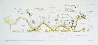 Lithographie Delarozière - Le Dragon