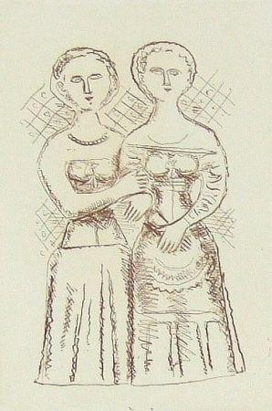 Gravure Campigli - Le due donne
