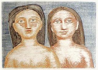 Lithographie Campigli - Le due Sorelle