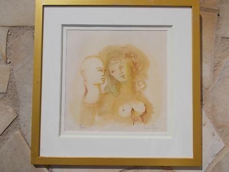 Lithographie Fini - Le Duo